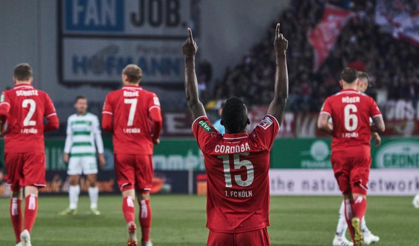 John Córdoba, salvador: anotó en último minuto para el empate del Colonia
