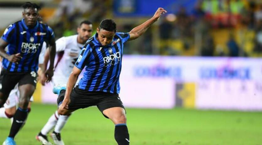 Luis Fernando Muriel anota en la goleada del Atalanta