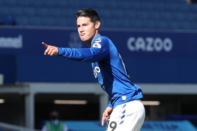 Everton vuelve a ganar en la Premier con gol de James Rodríguez