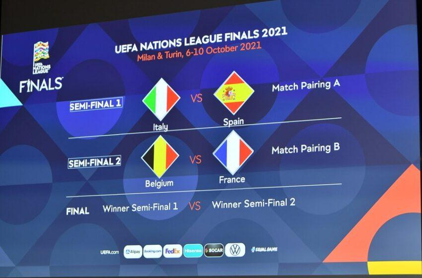 Listas las semifinales de la Liga de Naciones de la UEFA