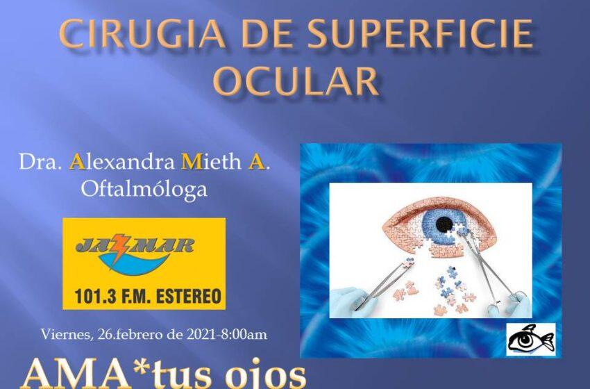Ama tus ojos con Alexandra Mieth, tema de hoy, cirugía de superficie ocular.