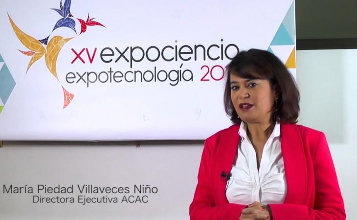 María Piedad Villaveces, directora de Avanciencia  en el especial día del Maestro.